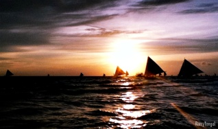 The sunset at Boracay, Philippines, 2011.