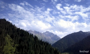 The sky over the mountains of Kazahstan, 2006.